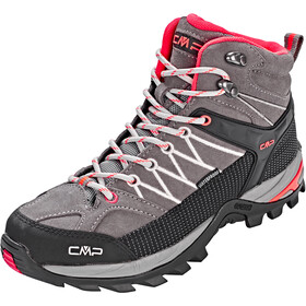 CMP Campagnolo Rigel Mid WP Trekking Shoes Dame grey-red fluo